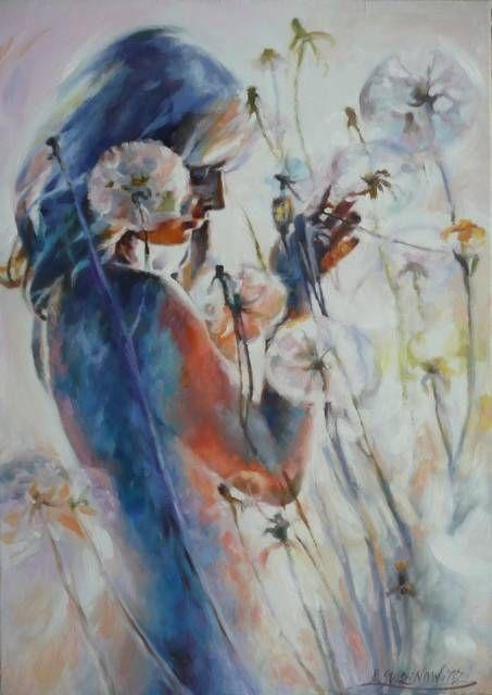 Kobieta wśród dmuchawców. Barbara Gulbinowicz