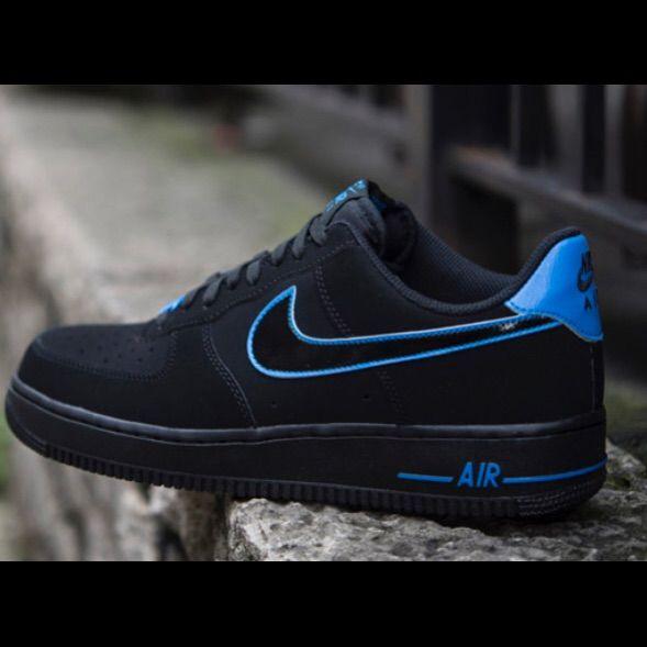 Nike Air Force 1 Suede Womens BlackBlue UK