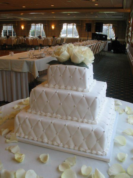 Silver White Yellow Square Wedding Cakes Photos & Pictures - WeddingWire.com