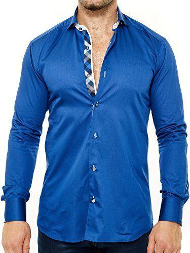 Electric blue dress shirts