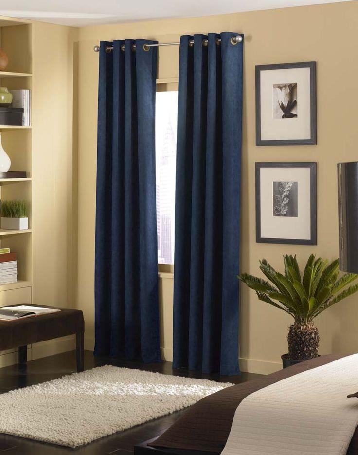 Cameron Luxe Microsuede Grommet Curtain Panel / Curtainworks.com
