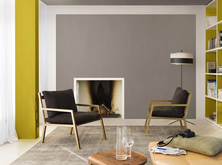 Deze zitruimte is een plek waar we tot rust komen en gezellig bijpraten daarom hebben we hier - Deco grijze muur ...