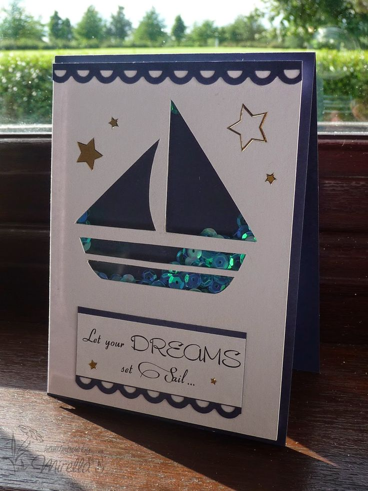 Sea themed shaker card. Love the colours of the sequins. More pics over at http://handmadebymirella.blogspot.ie/2014/08/sea-themed-shaker-card.html