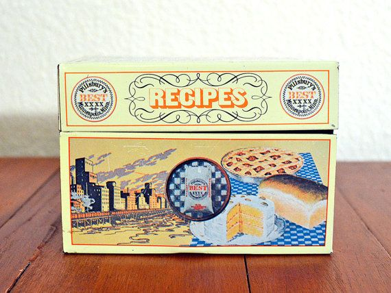 Pillsbury Recipe Tin with Recipe Cards by ReCreative85 on Etsy