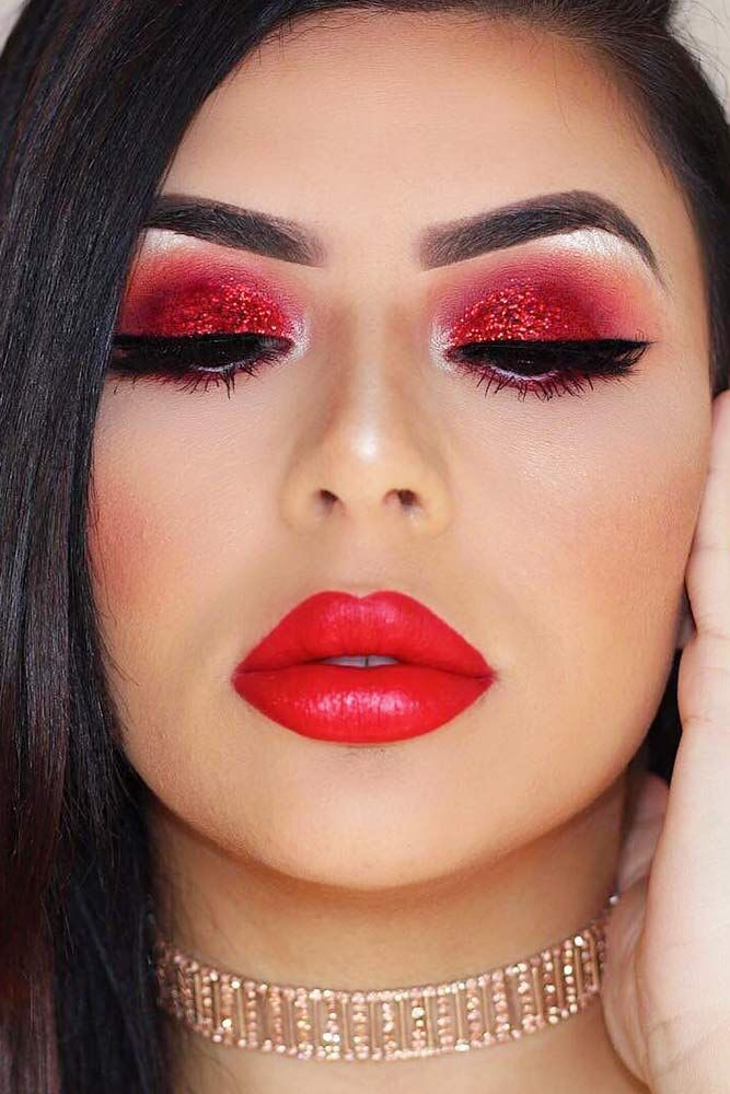 48 Amazing Glitter Christmas Makeup Ideas Holiday Makeup Looks