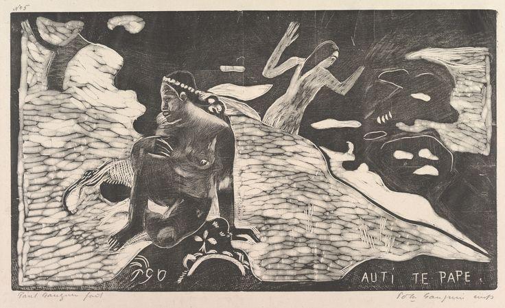Eugène Henri Paul Gauguin (1848-1903) Auti Te Pape, 1893–94 Woodcut on china paper, 8 1/16 x 14 in. (20.5 x 35.6 cm): block 10 1/2 x 16 7/8 in. (26.7 x 42.9): paper Rogers Fund, The Metropolitan Museum of Art, New York, 1921, 21.38.6