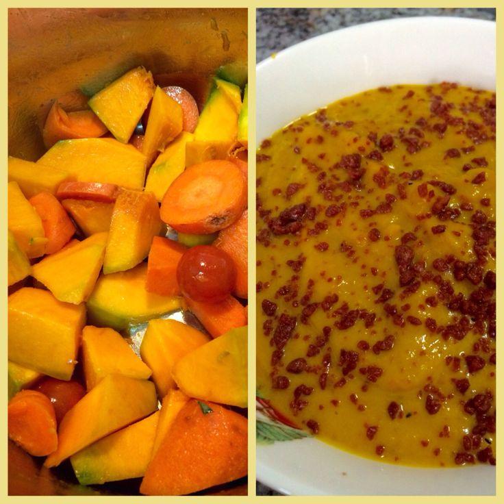 Crema de verduras con tocino de soya 23 Mayo 2015