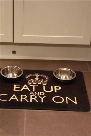 Eat Up Dog Dinner Mat