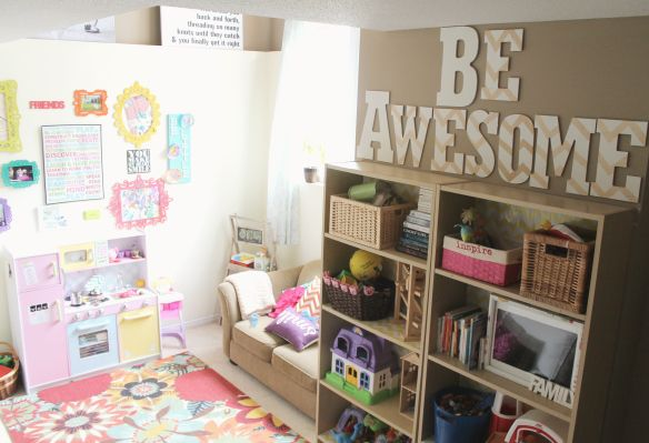 be awesome painted chevron letters