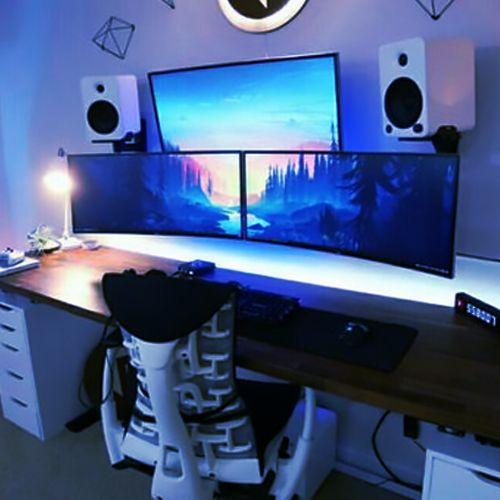 Best Budget Gaming Monitor   Computer Desk Setups   Game room design