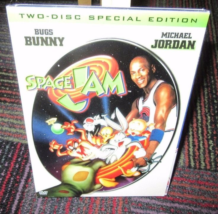 SPACE JAM SPECIAL EDITION 2-DISC DVD SET, MICHAEL JORDAN, BUGS BUNNY, GUC