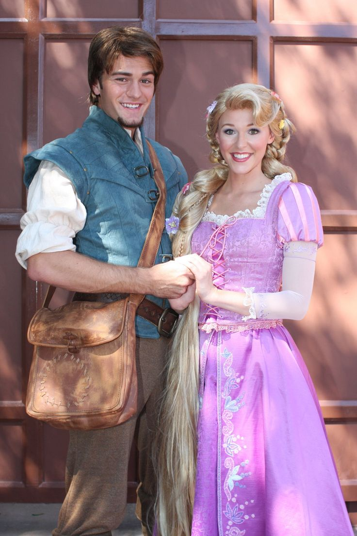 Rapunzel and Flynn Rider in Disneyland Disney Princess
