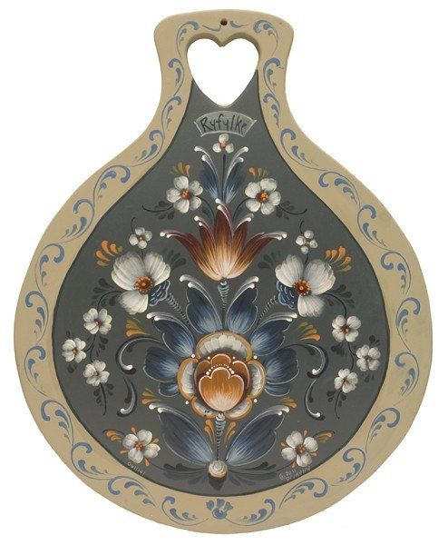 Rosemaling - Norwegian style of traditional decorative arts.