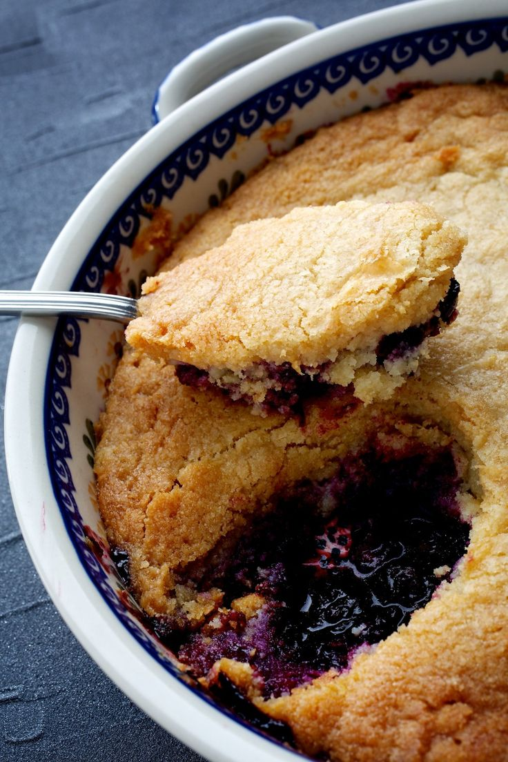 Chef Vivian Howard has used blueberries, blackberries, cherries, strawberries, plums, apricots and peaches in this recipe, as well as figs, apples, oranges and a combination of tangerines and cranberries for a festive-looking holiday cobbler.