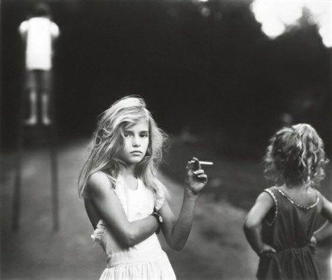 Little girl smoking