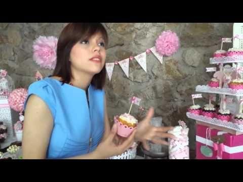 Como Decorar Mesa de dulces Scrapbook, Angeles decorativos Paso a Paso - YouTube
