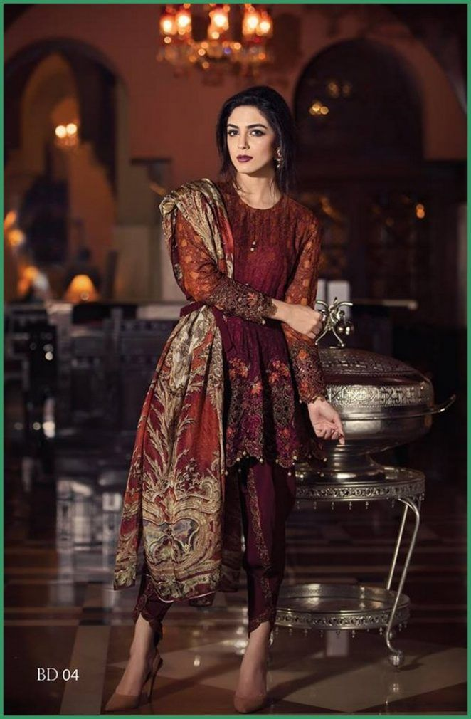 Maria B Eid Collection 2016 For Girls Evening Wear dresses