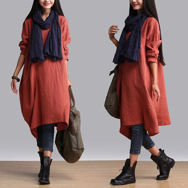 buykud loose fitting cotton linen dress material: cotton,linen loose style