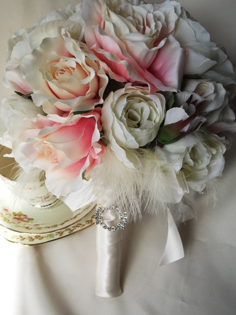 The latest shabby chic bouquet I've made