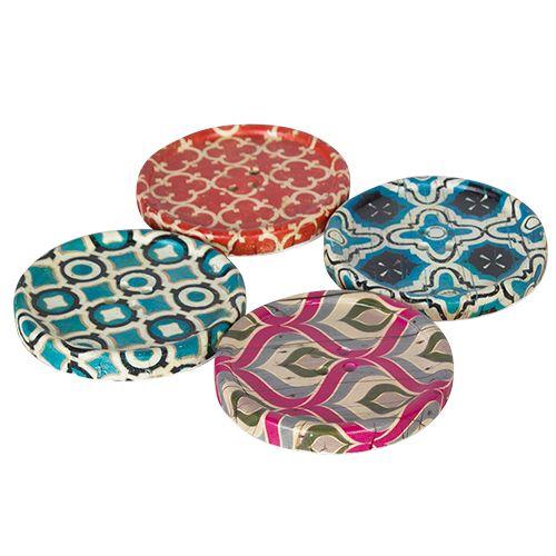 Coaster - Button Round Moroccan Tile