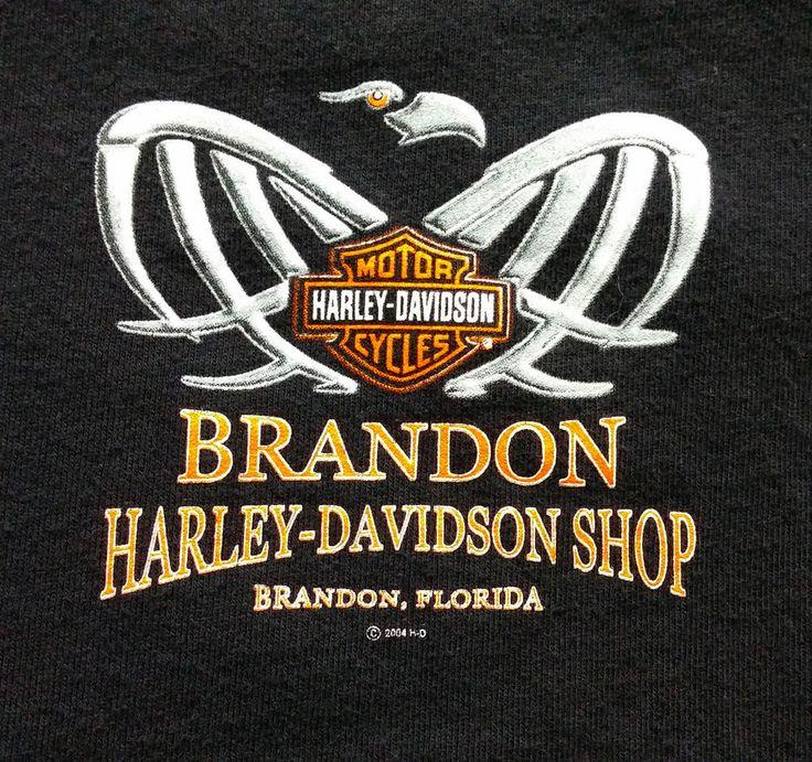 Harley Davidson Shirt Brandon Florida M Medium Black Cotton #HarleyDavidson