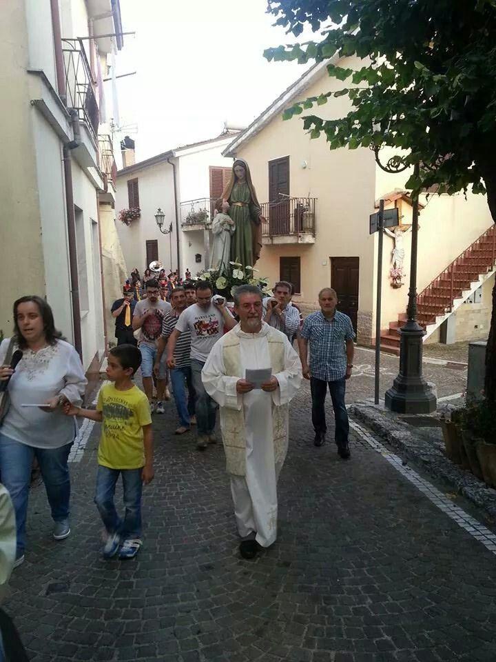 Salza Irpina (AV) - Italy: Processione S. Anna - 26 Luglio 2014.