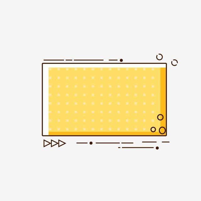 Yellow Minimalist Cute Cartoon Border Text Box, Frame ...