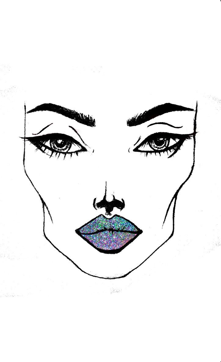 #Glitter #makeup #sketches