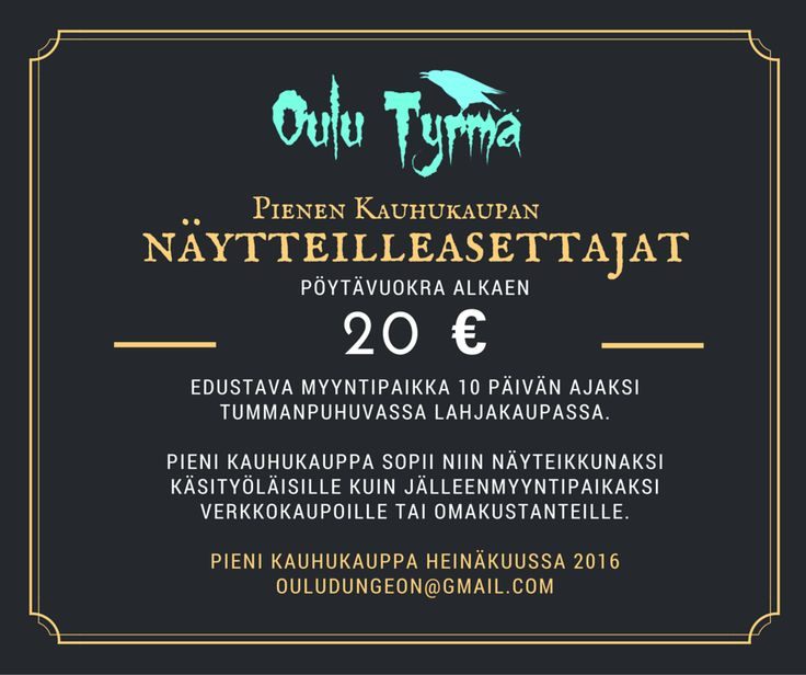 Oulu Tyrmän Pieni Kauhukauppa