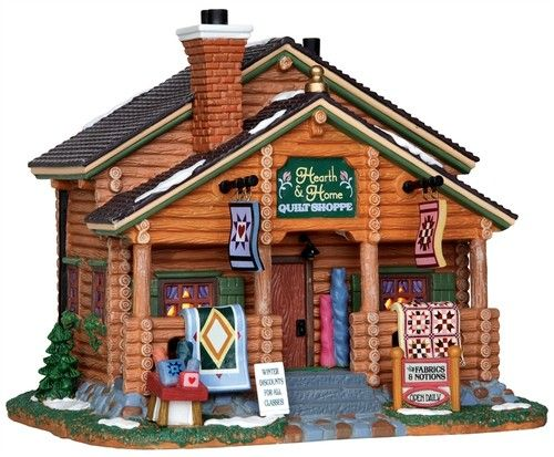 Lemax Village Hearth and Home Quilt Shop 25364 Lighted | eBay