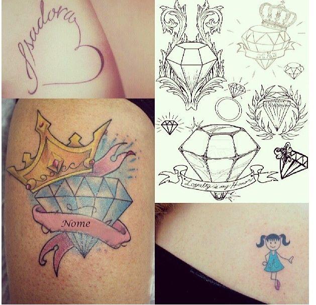 #diamonds #tattoo Rabiscos   tattoos picture diamond tattoo