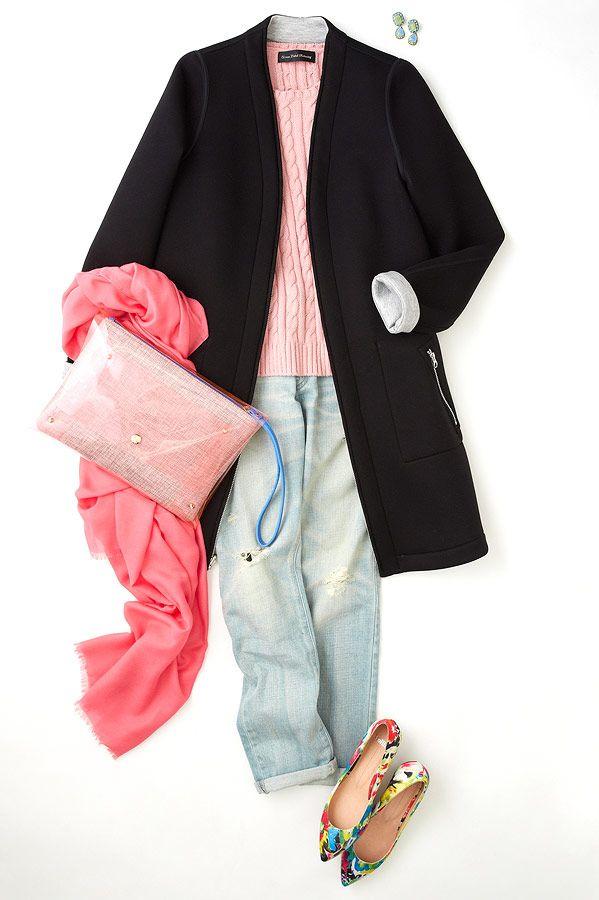 ルミネ新宿 ルミネ2の店頭アイテムでスプリングコートやジャケットを使った着こなしのコーディネート。ボンディングコートでピンクをスマートに着こなす! 人気スタイリスト三好彩さんが無限に広がるコーディネートの楽しさをお伝えしつつ、「今日着たくなる服」を提案します!