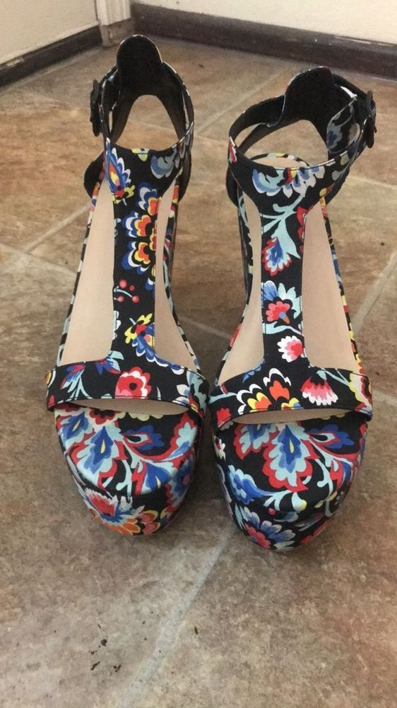 596ff3c88b08 LOEFFLER RANDALL MINETTE Womens Minette Wedge Sandal- Size 9.5 US Dark  Floral  fashion  clothing  shoes  accessories  womensshoes  sandals (ebay  link)
