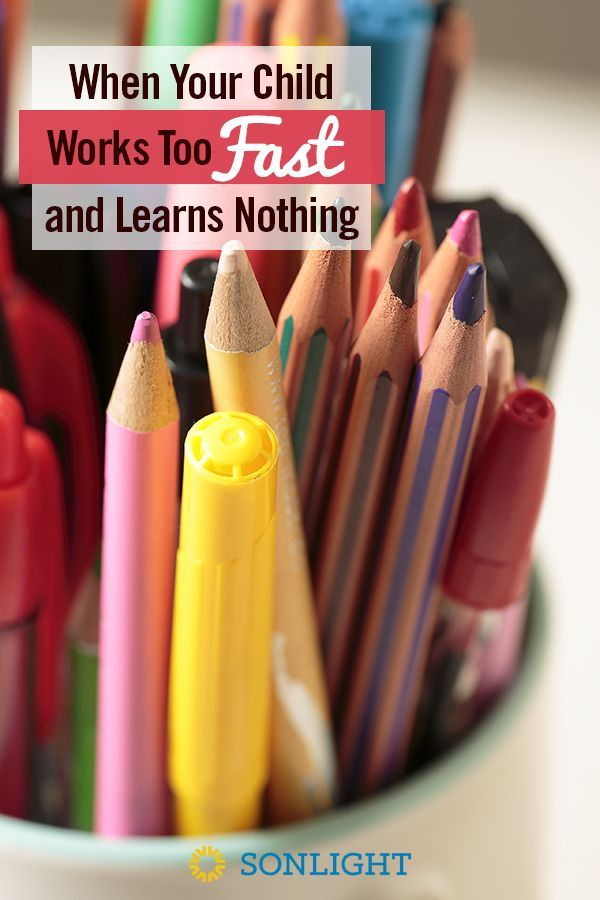 When Your Child Works Too Fast and Learns Nothing • #homeschooling tips