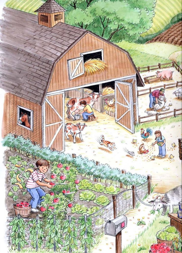 """Down on the Farm"" by Marilee Harrald-Pilz (http://marileesketches.blogspot.com/2009/09/down-on-farm.html)"
