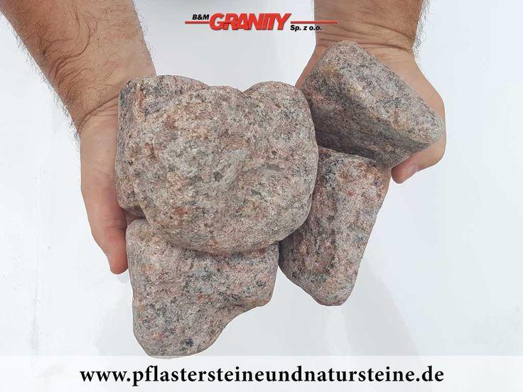 Ziersteine / Gerundete (getrommelte) Steine aus Granit, Vanga (trocken) für Gabionen