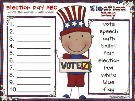 """**ELECTION DAY CELEBRATION!** Your students will vote """"YES!"""" to 106 pages of activities celebrating Election Day! This fun unit can be used to celebrate ANY election! It would be a great addition to your Election / Voting curriculum. Click the following link for a preview! http://www.teacherspayteachers.com/Product/Election-Day-Celebration-Literacy-writing-activities-for-ANY-election-377515"""