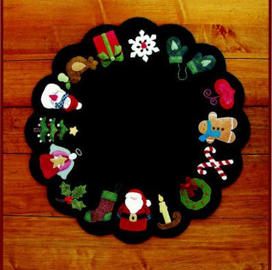 Christmas Memories Wool Mat Pattern by Brandywine Designs