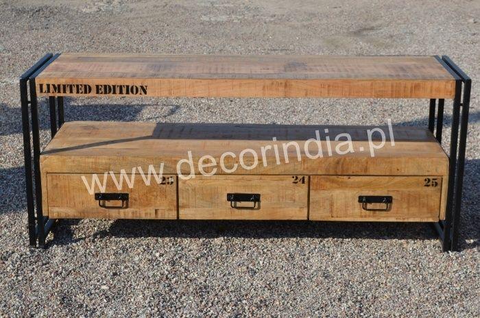 Meble Industrialne - Industrialna Szafka RTV (INDS-13)