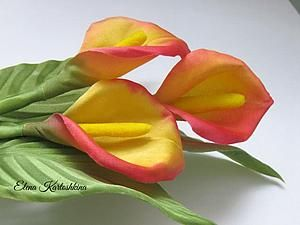 Создание простого и очень красивого цветка – каллы из шелка | Ярмарка Мастеров - ручная работа, handmade