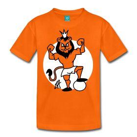 Oranje leeuw T-Shirt. Voor fans van het Nederlands Elftal. www.Tekenaartje.nl #NED #NL #Oranje #Holland #Nederland #wk14 #wk2014 #wc14 #Brazil2014 #AusNed #Leeuw #Tshirt #Tshirtdesign #voetbal #dailydrawing #tekening #Orange #Spreadshirt #Cardvibes #Tekenaartje
