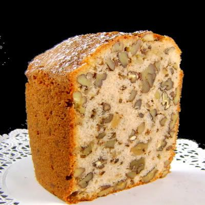 Southern Nut Cake...this was always on the Christmas dessert buffet at my grandmother's house.  My aunt made it with black walnuts.