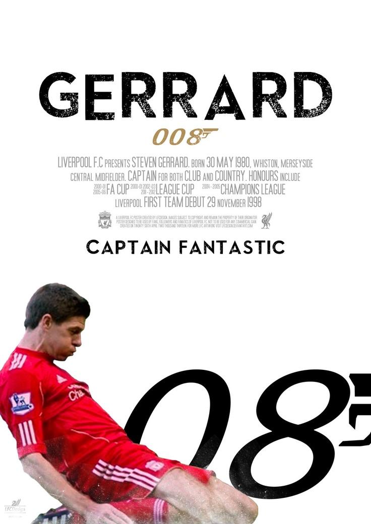 Steven Gerrard poster - inspired by the latest James Bond movie poster for Skyfall. 008  (LFCDesign)