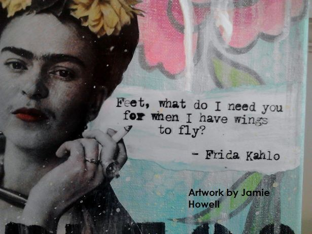 In the Studio: Mixed Media of Fearless Frida Kahlo