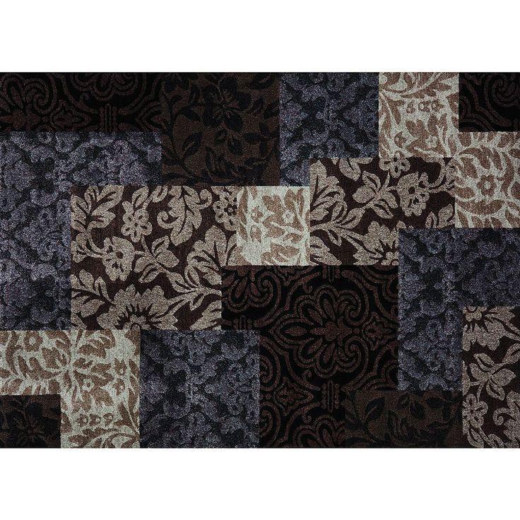 Merinos Vintage Geometric Damask Rug, Brown