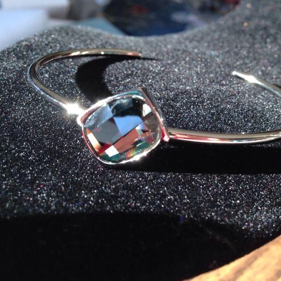 Black Diamond bracelet Brand new black diamond bracelet 14mm Swarovski crystal Stainless steel band. Jewelry Bracelets