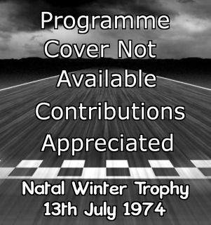 Roy Hesketh Racing Programmes 13th July 1974 | Pietermaritzburg