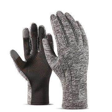 Mens Women Sports Velvet Waterproof Gloves Outdoor Riding Touch Screen Ski Climbing Gloves at Banggood