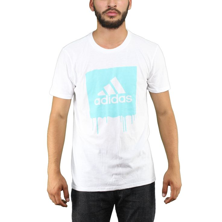 Adidas  Mint Paint Splatter Blackbird Logo  Men's White T-shirt. Sleeve Adidas  T-shirt Wanna wear something different from the famous brand? Try this Mint Blackbird Style tee and bright up your style everywhere., Show off your pride for the brand of three stripes.  What are you waiting to put your hands on this amazing T-Shirt? made for freshness and a material that guarantees 100% comfort. 100% Licensed and Authentic.