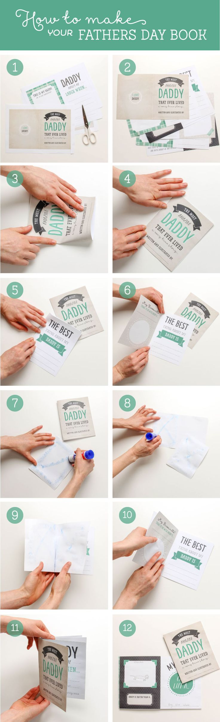 super cute FREE Printable Fathers Day Book ~ Tinyme
